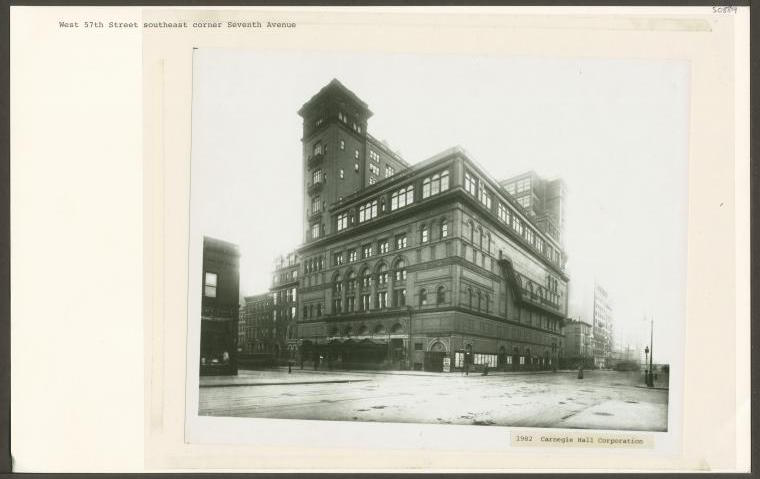 Carnegie Hall, c. 1910-1915. (Public Domain/From the New York Public Library)
