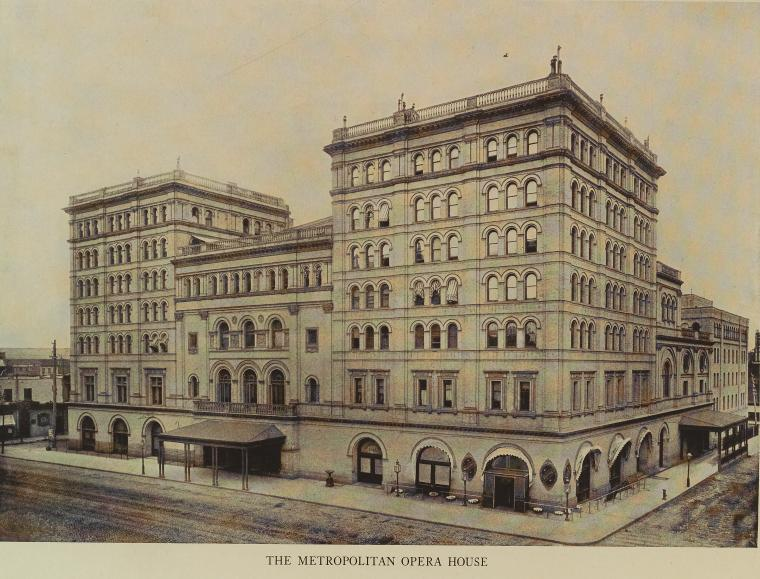 The Old Metropolitan Opera House, 1914 (Public Domain/From the New York Public Library)