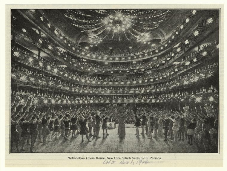 Metropolitan Opera, 1910 (Public Domain/From the New York Public Library)