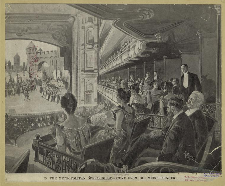 In The Metropolitan Opera House : Scene From Die Meistersinger, 1898 (Public Domain/From the New York Public Library)