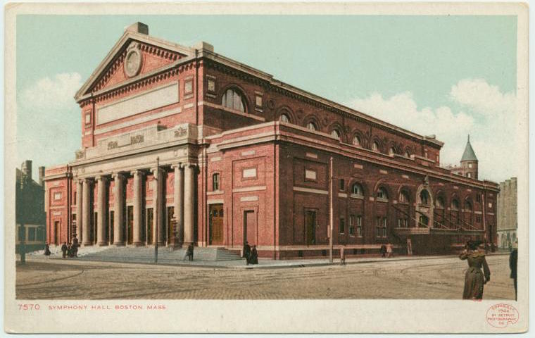 Symphony Hall, Boston, 1903-1904 (NYPL/Public Domain)