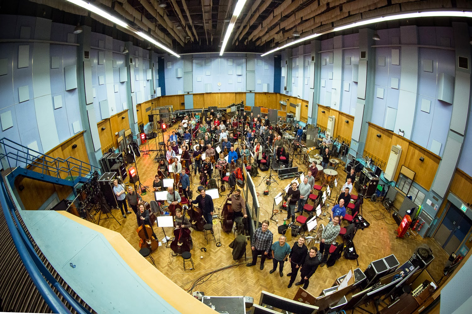 "The London Symphony Orchestra recording the ""Final Fantasy"" soundtrack (LSO)"