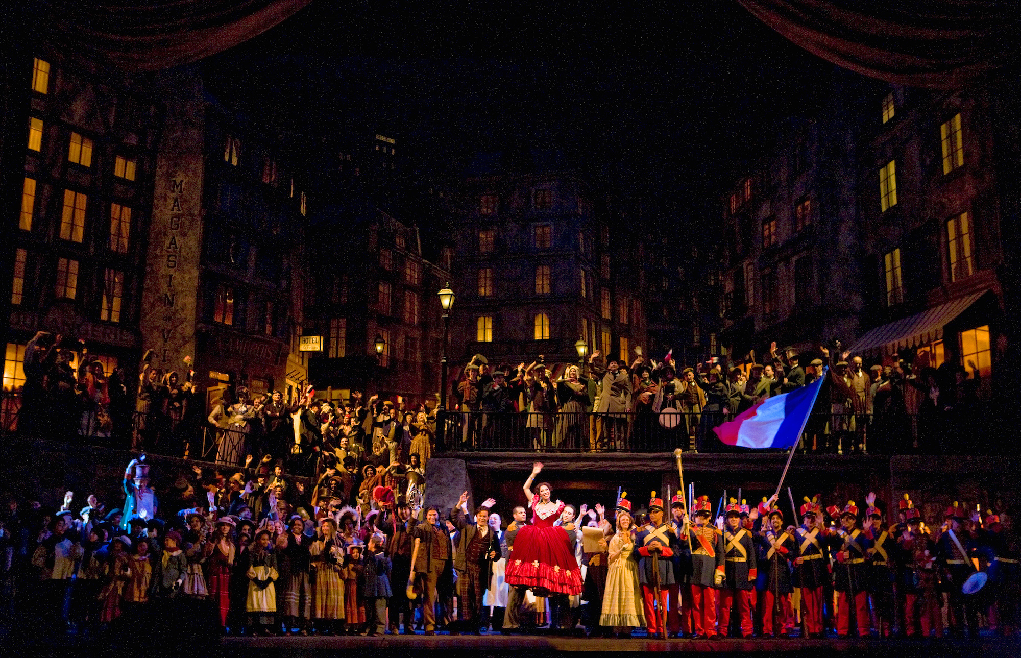 "Act 2 of Puccini's ""La Boheme."""