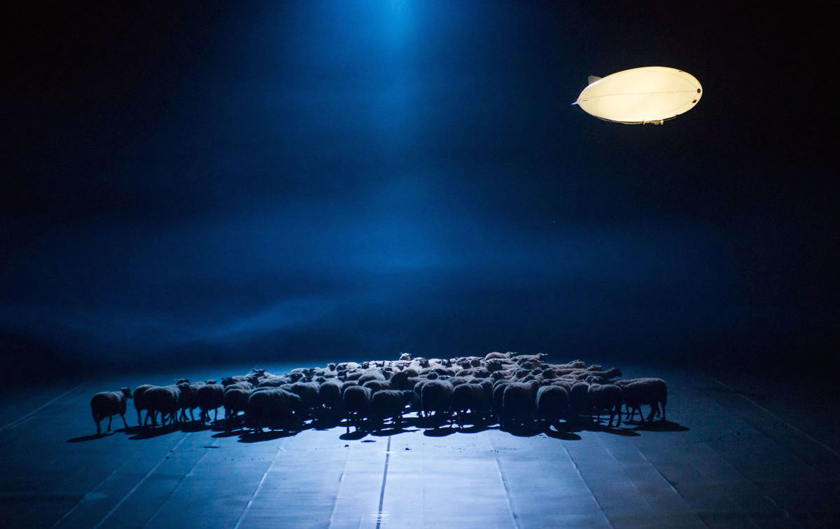 A scene from De Materie by Louis Andriessen, directed by Heiner Goebbels. Photograph: Stephanie Berger