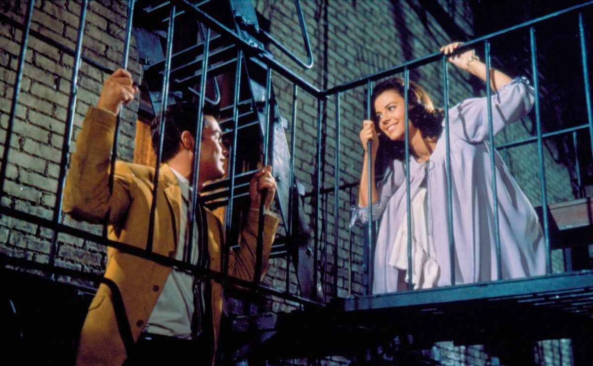 Maria (Natalie Wood) and Tony (Richard Beymer) in 'West Side Story'