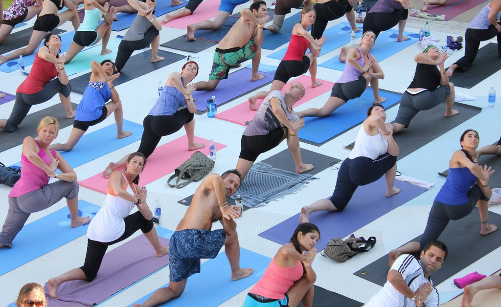 Yoga at the Wanderlust Festival (Credit: Flickr/The Cosmopolitan)