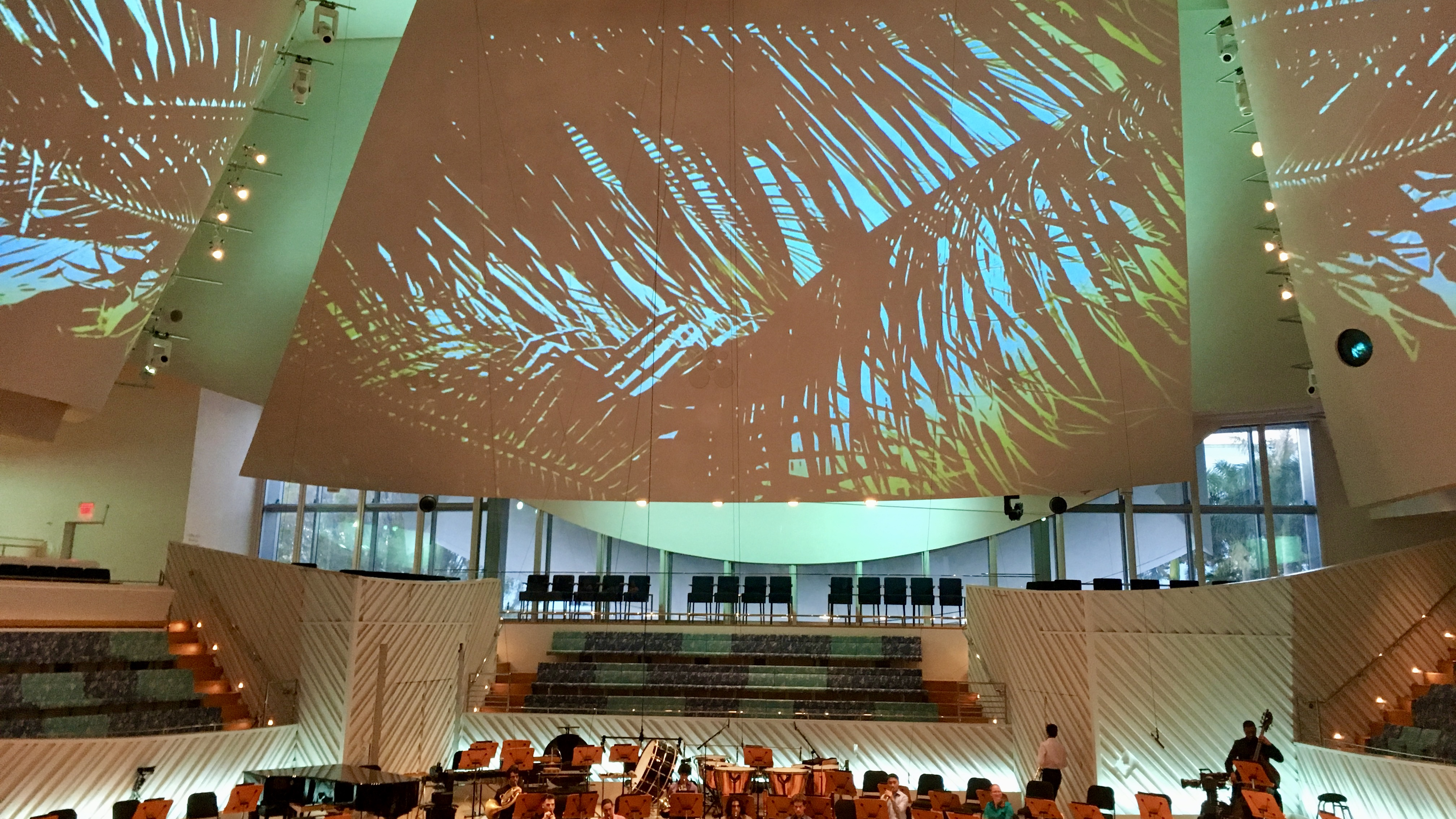 Pre-concert projections before the New World Symphony concert.