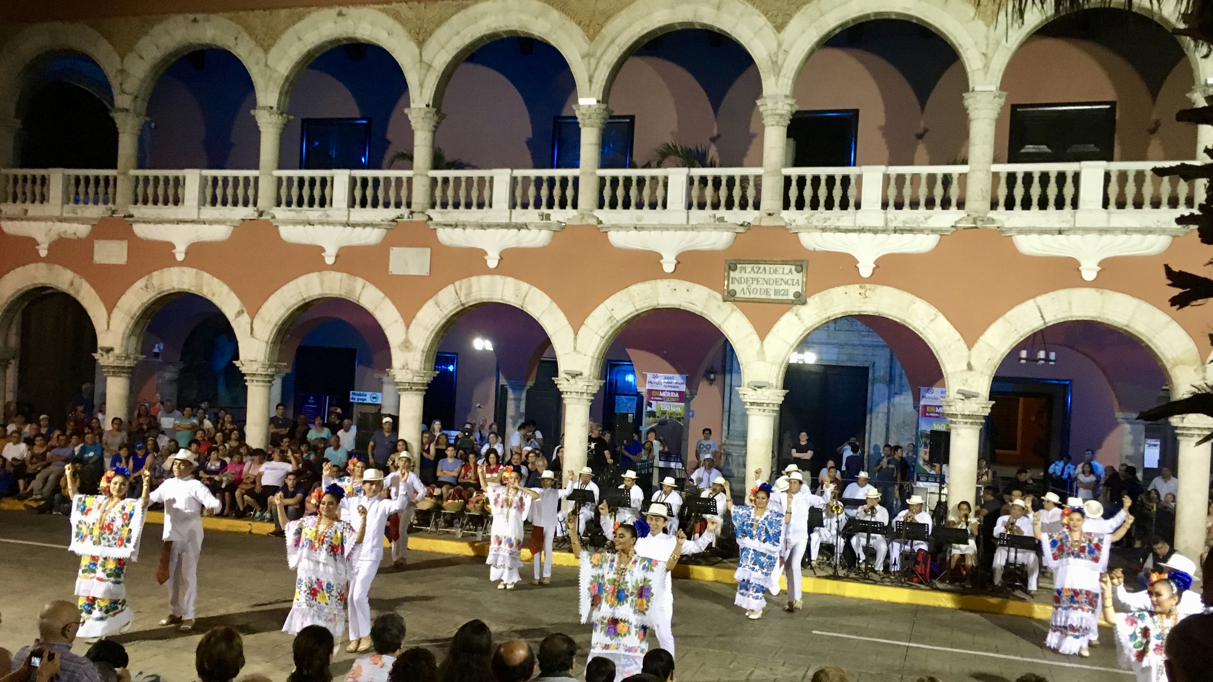 vaqueros show on the main square of Mérida, Mexico