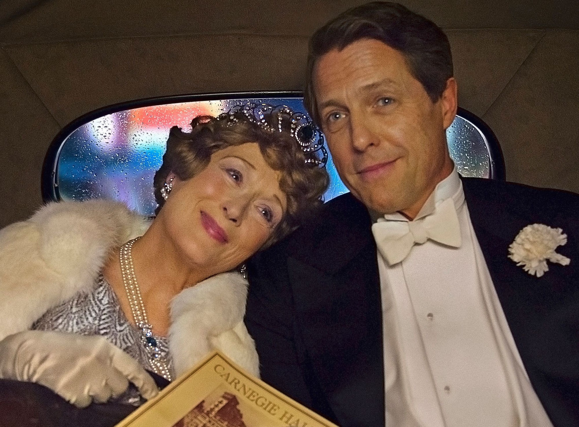 Meryl Streep and Hugh Grant in a scene from 'Florence Foster Jenkins' (credit: Pathe)