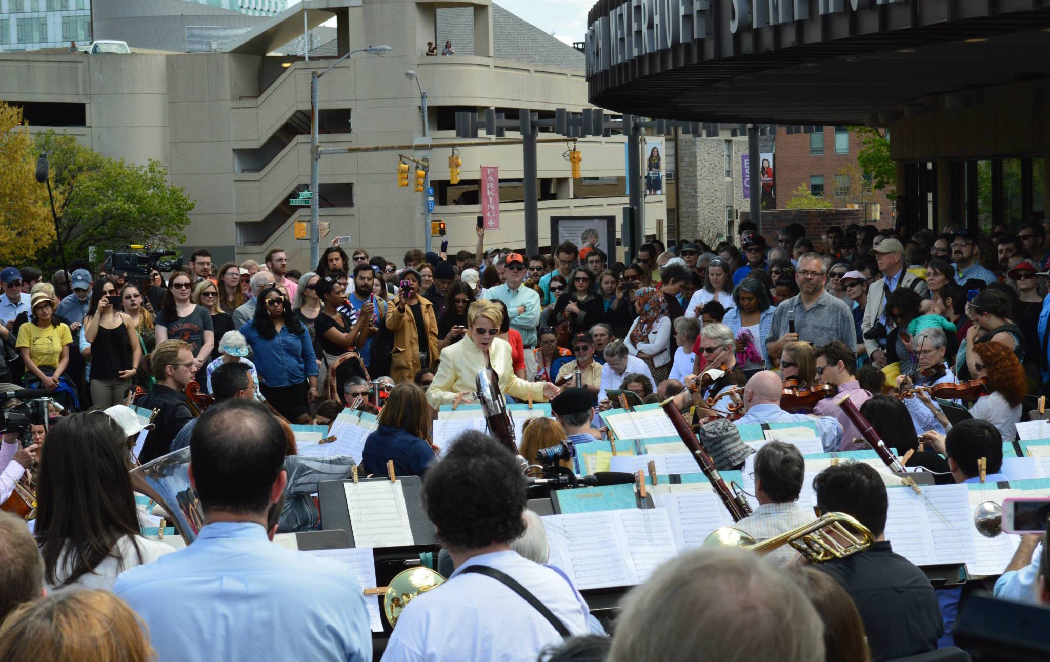 Baltimore Symphony plays a concert for peace on April 29, 2015