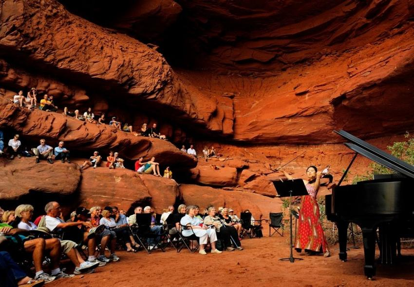 A Grotto Concert at the Moab Music Festival (Photo: Richard Bowditch)