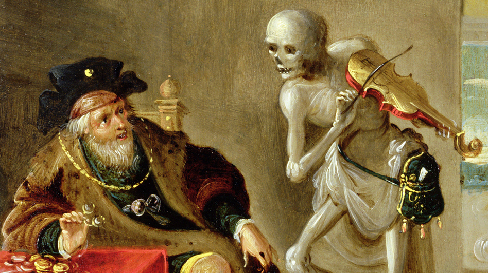 Detail of Frans Francken the Younger's 'Danse Macabre,' a ghoulish painting appropriate for Halloween.