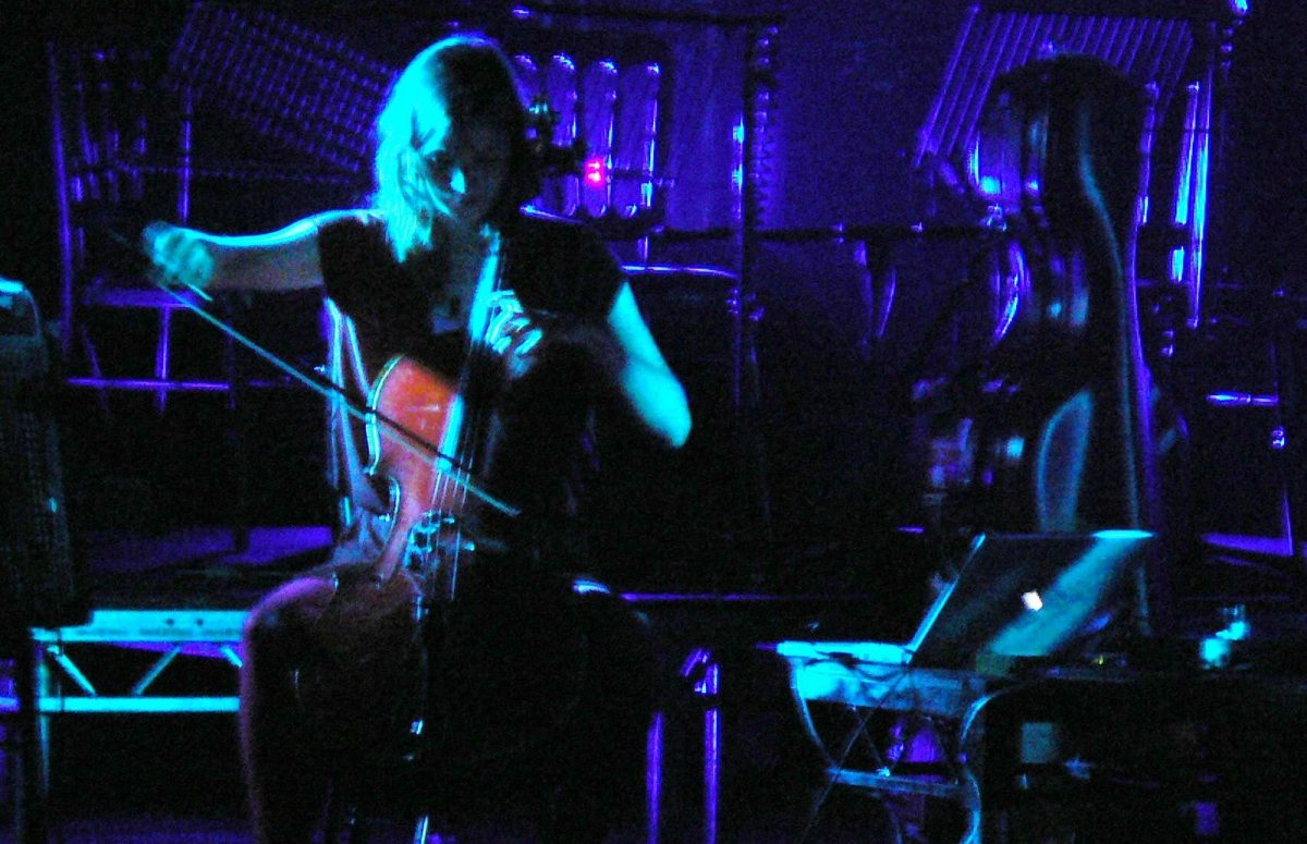Hildur Guðnadóttir performing at the Roundhouse, London.