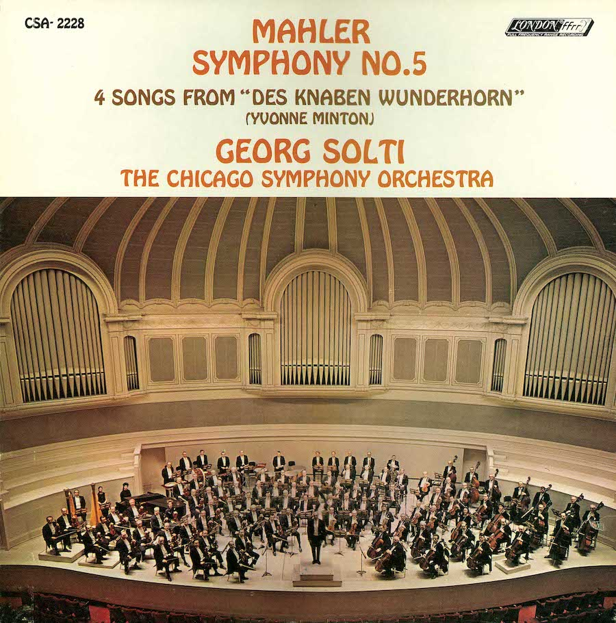 Chicago Symphony Orchestra's Mahler 5 recording from 1970 showcases the brilliance of the brass (London).